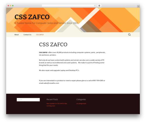 Twenty Thirteen best free WordPress theme - csszafco.com