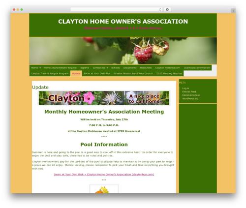 WordPress template Atahualpa - claytonhoa.com