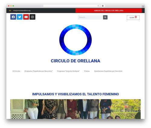 WordPress website template Jupiter - circulodeorellana.org