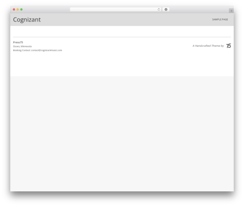 Album WordPress page template - cognizantmusic.com