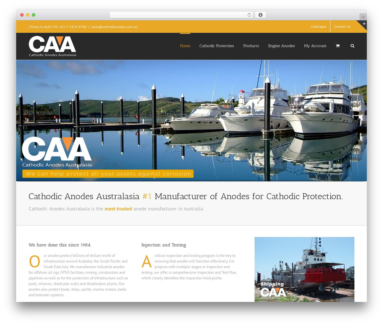 Avada theme WordPress - cathodicanodes.com.au