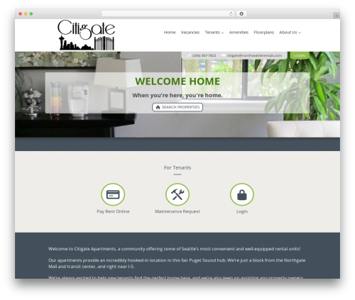 Best WordPress template AppFolio MVP Theme - citi-gateapartments.com