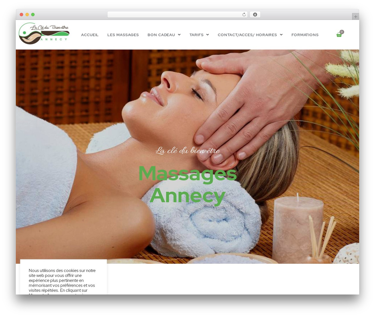 Betheme massage WordPress theme - cledubienetre.com