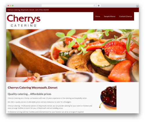 Cherrys Catering WordPress template for business - cherryscatering.co.uk