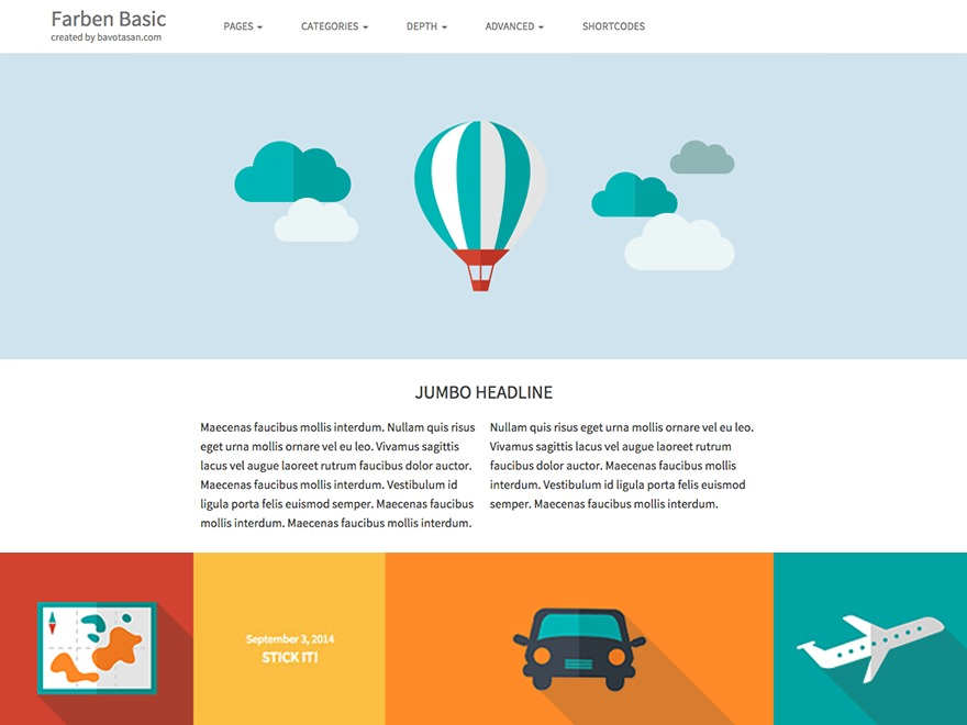 Farben Basic Child WordPress website template