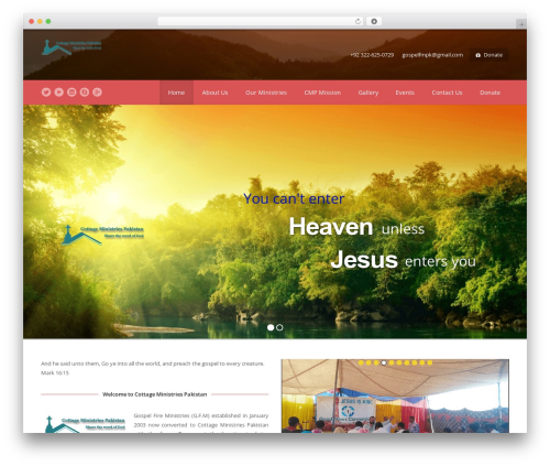 Template WordPress Spiritual - cmpakistan.com