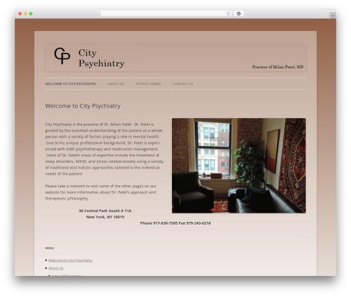 WordPress template Twenty Twelve - citypsychiatrynyc.com