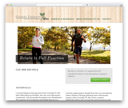 WordPress website template Agency - cedarstherapy.com
