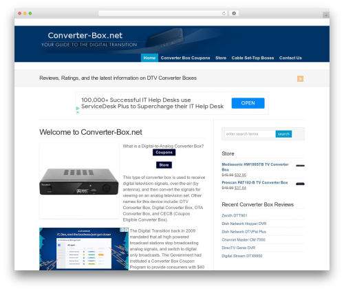 WP-Brilliance WordPress theme - converter-box.net