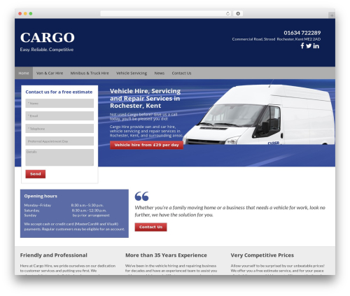WP template Cargo - cargo-hire.co.uk