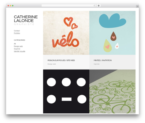 WP template Crush - catherinelalonde-graphiste.com