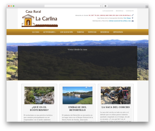 Ambassador theme WordPress - casarural-lacarlina.com
