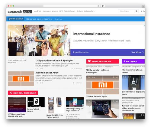 BuzzMag WordPress magazine theme by FlatLayers