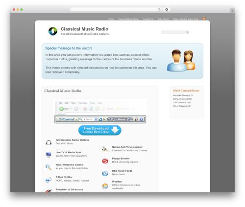 Corporate WordPress theme - classical-toolbar.com