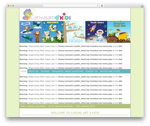 Genesis WordPress theme - canvasart4kids.com.au
