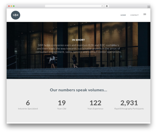 Rosie WordPress template for business - consultsbr.com