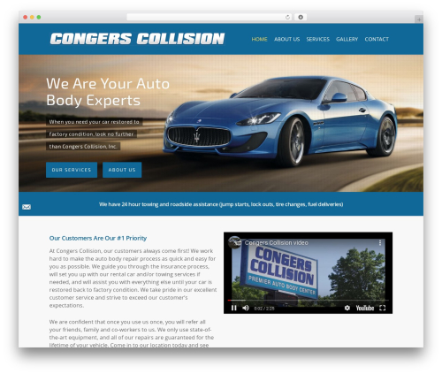 Salient motors WordPress theme - congerscollision.com