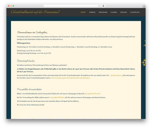 Sparkling top WordPress theme - christkindlmarkt-fraueninsel.de