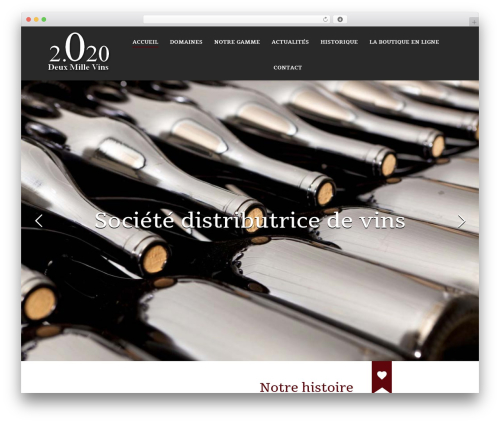 The7 WordPress theme - deuxmillevins.fr