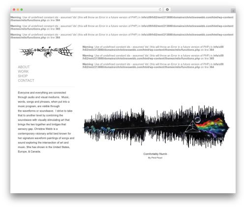 Theme WordPress Milo - christineswebb.com