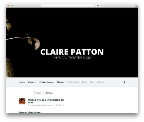 WordPress theme Harmony - clairepatton.com