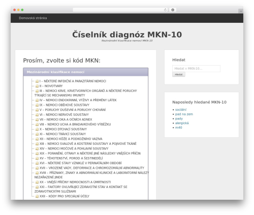 WordPress theme MKN-10 - ciselnikdiagnoz.cz