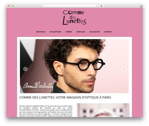 Auxane Opticiens best WordPress template - comme-des-lunettes.fr
