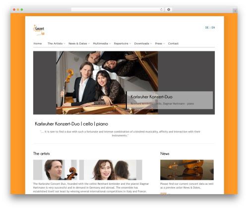 Cloriato Lite WordPress template free download - concertduo.com
