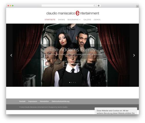 Divi WordPress website template - claudio-maniscalco-entertainment.de