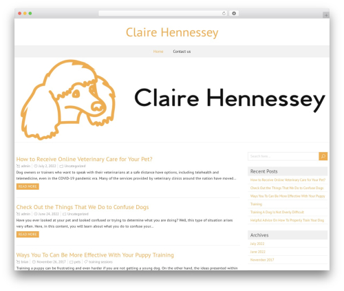 ForeverWood WordPress template free download - clairehennessey.com