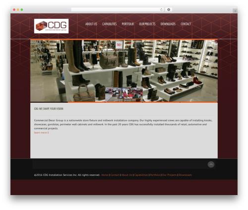 Reverence WordPress theme - commercialdecorgroup.com