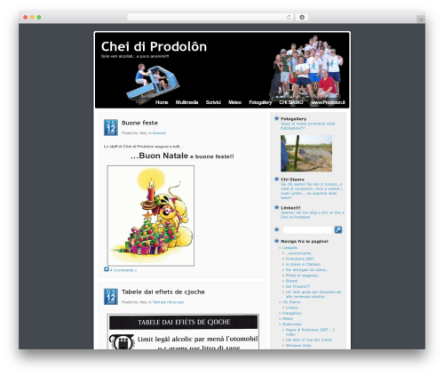 Template WordPress Mandigo - chei.prodolon.it