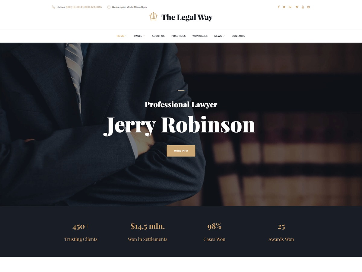 Template WordPress Thelegalway