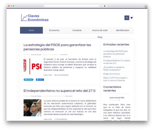 Unity WordPress blog template - claveseconomicas.com