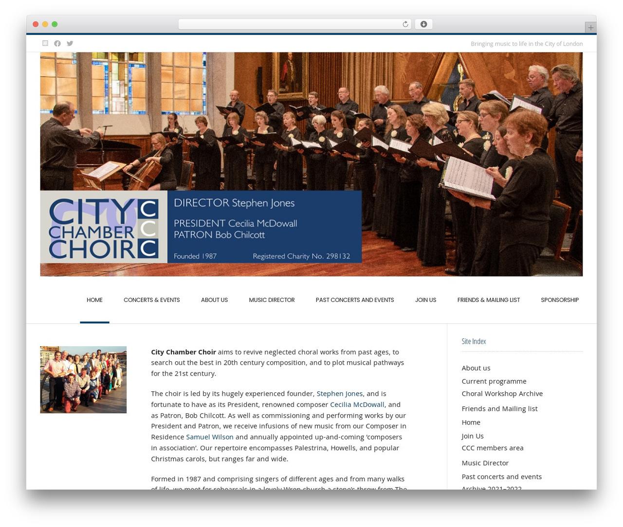 Conica free WordPress theme - citychamberchoir.org.uk
