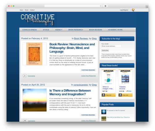 Convergence landscaping WordPress theme - cognitivephilosophy.net
