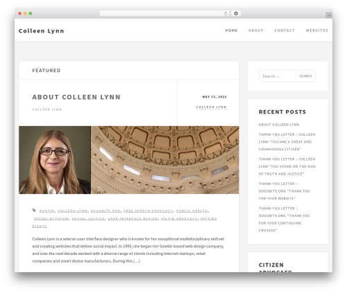 Culture free WP theme - colleenlynn.com