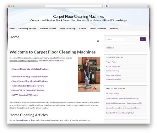 Graphene WordPress theme - carpetfloorcleaningmachines.com