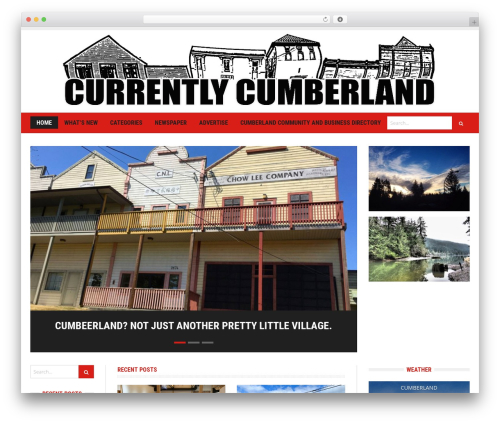 Headline News WordPress theme - cumberlandbc.info