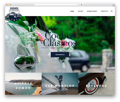LA Zyra WordPress page template - cochesclasicosalmeria.com
