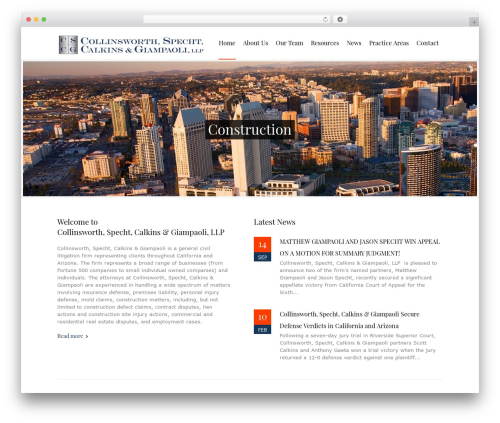 Law business business WordPress theme - cslawoffices.com
