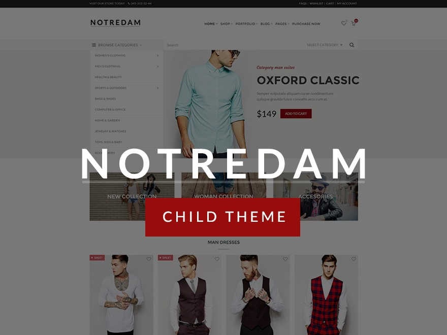 Notredam Child WordPress theme