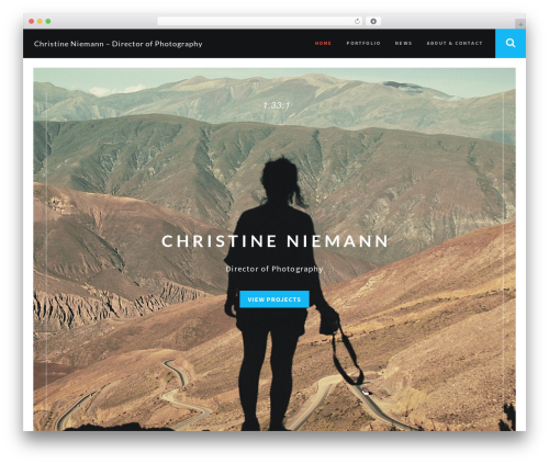 RED:FOLIO WordPress template for photographers - christineluedge.com