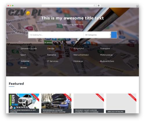 Responsive Business Theme WordPress template - czv.pl