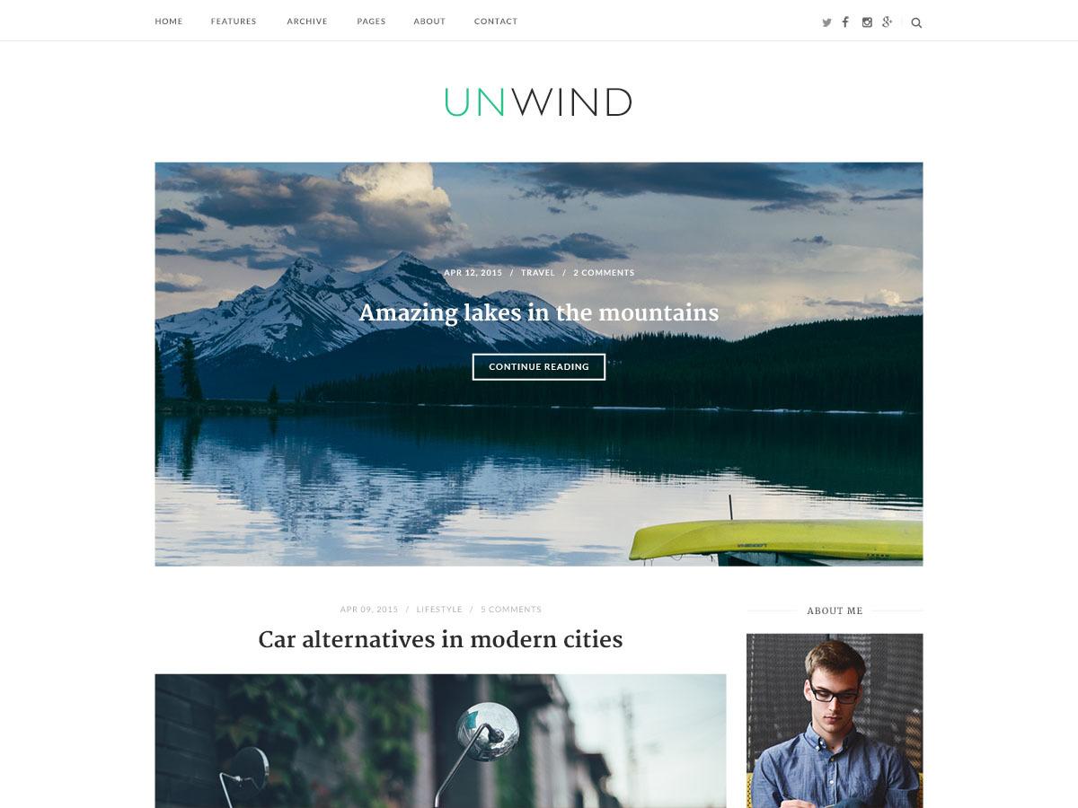 SiteOrigin Unwind Child WordPress store theme