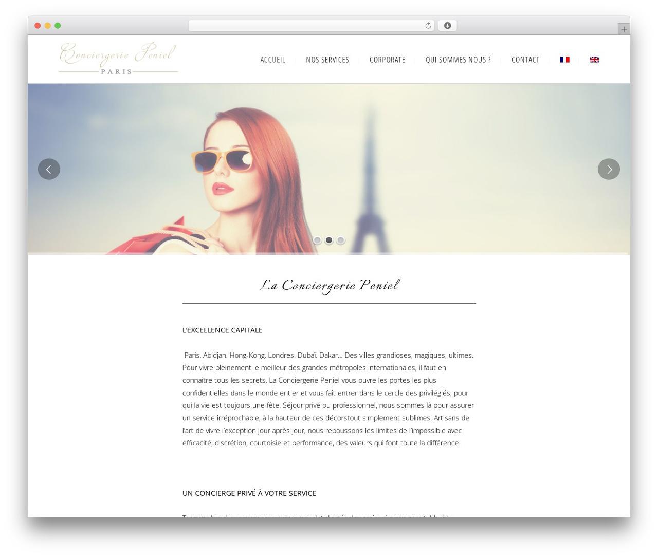 WordPress template Bridge - conciergerie-peniel.com