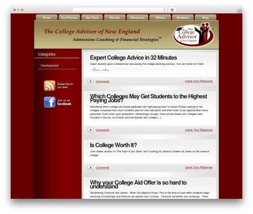 WordPress template Convergence - college-advisor.org