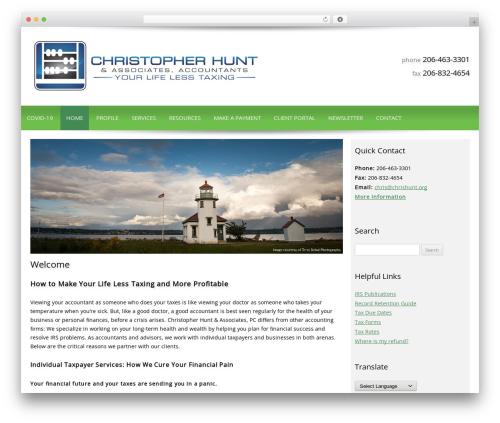 WordPress theme Customized - chrishunt.org