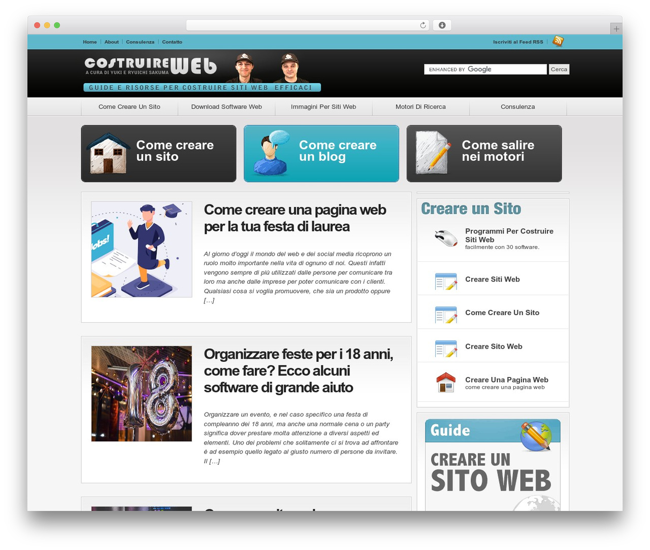 Convergence WP theme - costruireweb.it