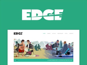 Edge personal blog WordPress theme